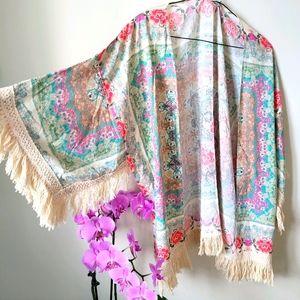 Anthropologie!! Fringe Kimono 💕💋